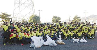 ゴミ拾いで地域貢献