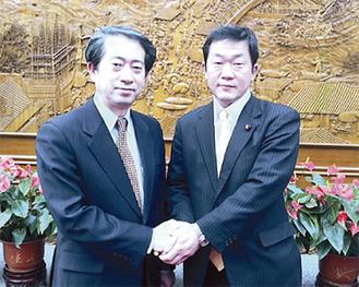 中国外交部アジア局熊波副局長と会談=中国・北京にて