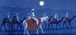 アフガニスタンの砂漠を行く・月(2007年)