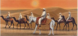 アフガニスタンの砂漠を行く・日(2007年)