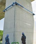 橋脚を10mの高さまで登る目視検査用ロボット