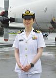 海自初の女性飛行隊長に