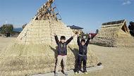 古代住居組み立て体験教室