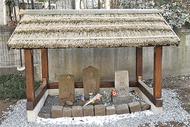 道祖神に「竹葺き屋根」