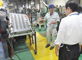 栄和産業の工場内を見学