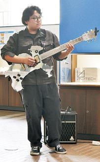 神奈川の形をしたギター