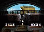 議場に投影された神崎遺跡