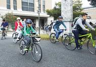 自転車でスタンプラリー