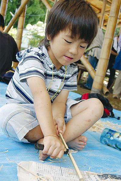 竹細工に挑戦