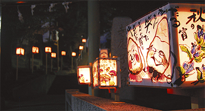 手作り燈篭彩る夜