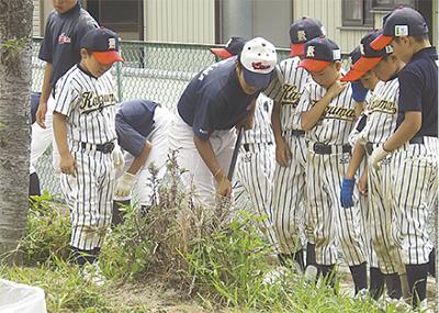 野球通じ被災地支援