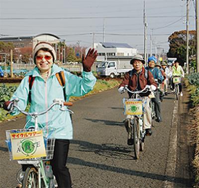 自転車で市内観光