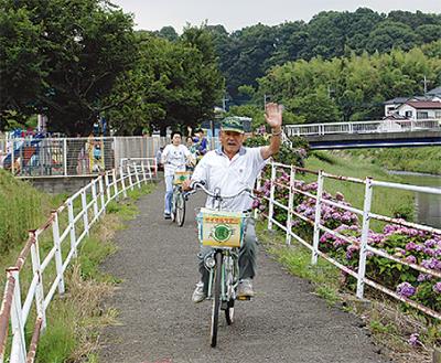 自転車で綾瀬周遊