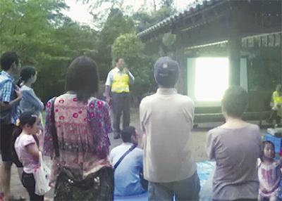 ホタル舞う観賞会