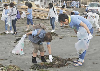 海岸清掃通し交流