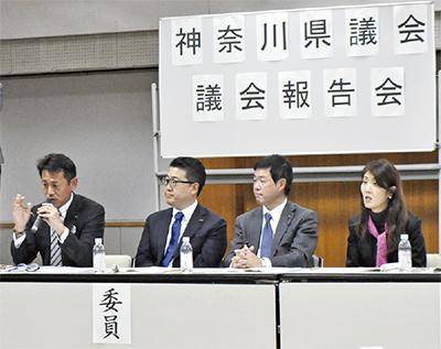 綾瀬で県議会報告会