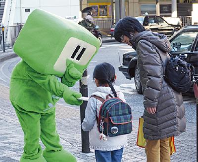 海老名駅前で街頭広報実施