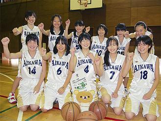 元気いっぱいの愛川中女子バスケットボール部