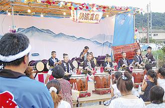 飯山白龍太鼓の演奏