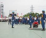 清川村消防団の競技の様子