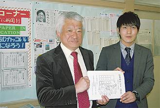 星野教諭(左)と志方教諭