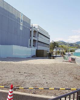 工事が進む新保健センター