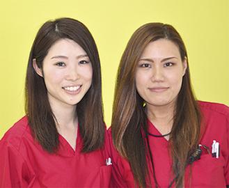 酒川さん(左)と熊谷さん(右)