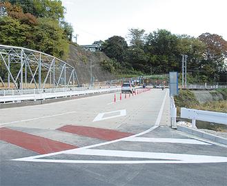 運用開始された仮橋