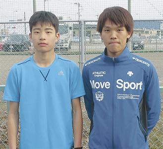 清川村から出場する工藤選手(左)と村上選手