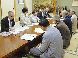 愛川地区の区長と町議による懇談会