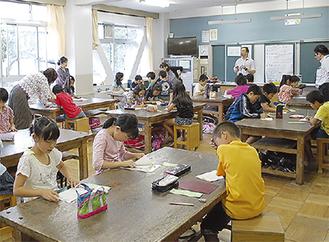 菅原小学校でのあすなろ教室の様子