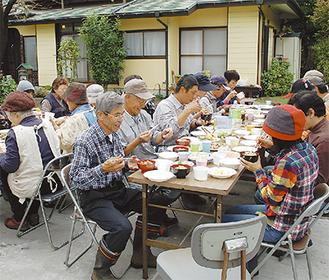 愛川の秋の食材を味わいながら交流