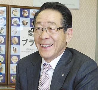 新年の意欲を語る小野澤町長