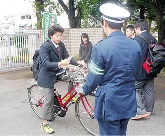 愛川高校での啓発活動