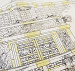 細部まで描かれた神輿の絵図面