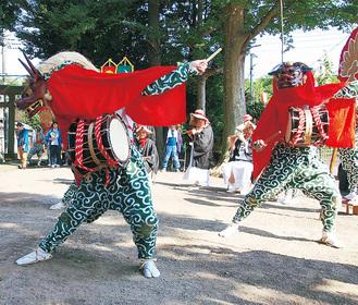 夏の愛川に伝統の舞
