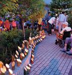 介護と日常を自然に繋ぐミノワホームの庭は、イベント会場などにも活用され、新たな人の触れ合いを生み出す空間になっている