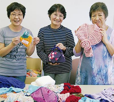 手編みマフラーを被災地へ