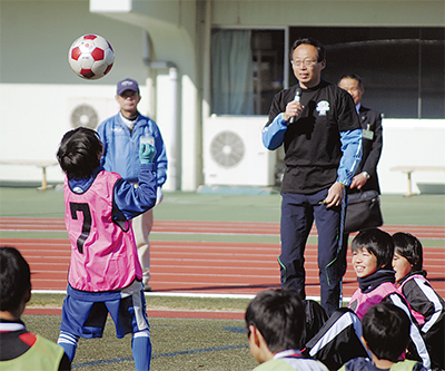 岡田監督がサッカー教室
