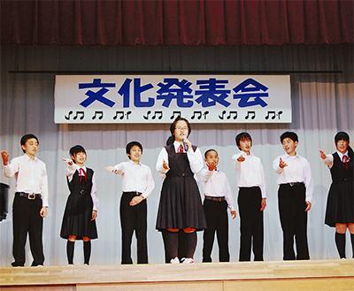 ダンス・英語に、合唱も