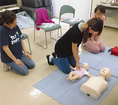 子どもの応急手当学ぶ