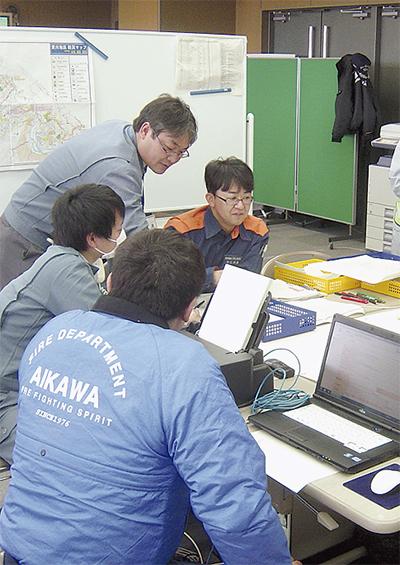 地震想定し図上訓練