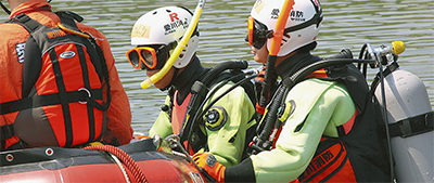 水難事故発生時の連携確認