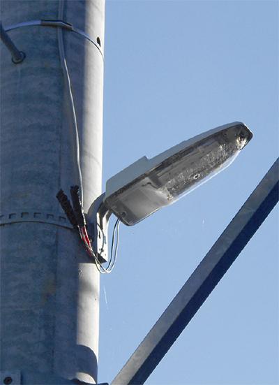 防犯灯をLED化