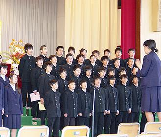 在校生108人が、いきものがかり『YELL』を合唱。歌詞に思いを乗せた