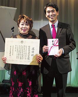 吉田市長(右)と栗原会長(左)