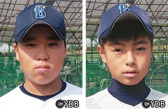 門間選手(右)と村田選手