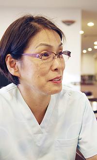 井田智子施設長/看護師として病院に勤務していた経験を活かし、介護サービスを実践する