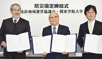 「若い力の手助けに感謝したい」と澄川会長(写真中央)