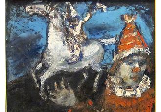 「ピエロの夢」油絵・キャンバス30.5×39.5